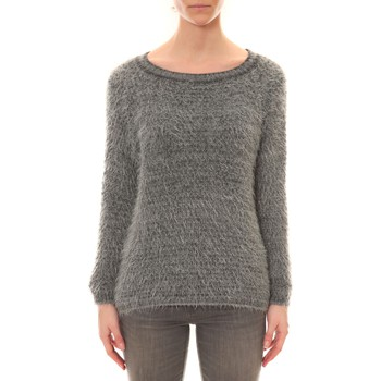 Clothing Women Jumpers De Fil En Aiguille Pull Effet Noix Coco Anthracite Grey