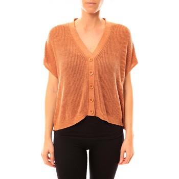 Clothing Women Jackets / Cardigans American Vintage GILET TIN236 ROUILLE CHINE Orange