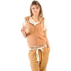 Clothing Women Sweaters American Vintage ZIPPER CAPUCHE PRA193E11 ROUILLE CHINE Orange