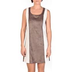 Clothing Women Short Dresses Dress Code Robe Venetie blanc/marron Brown