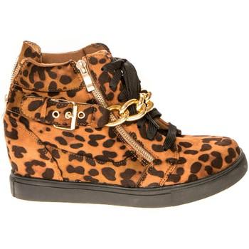 Shoes Women Hi top trainers Cassis Côte d'Azur Baskets Kabongo Léopard Brown
