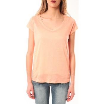 Clothing Women short-sleeved t-shirts Little Marcel T-Shirt Talin E15FTSS0116 Corail Pastel Orange