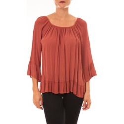 Clothing Women Tops / Blouses By La Vitrine Blouse Giulia brique Orange