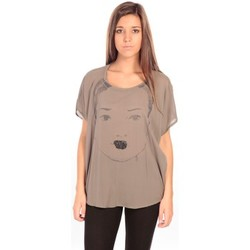 Clothing Women Tunics Charlie Joe Top Contessa Brown