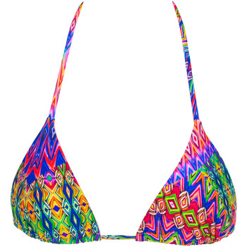 Luli Fama Multicolor Triangle Swimsuit..