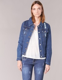 Clothing Women Denim jackets Yurban ESPINALE Blue / Dark