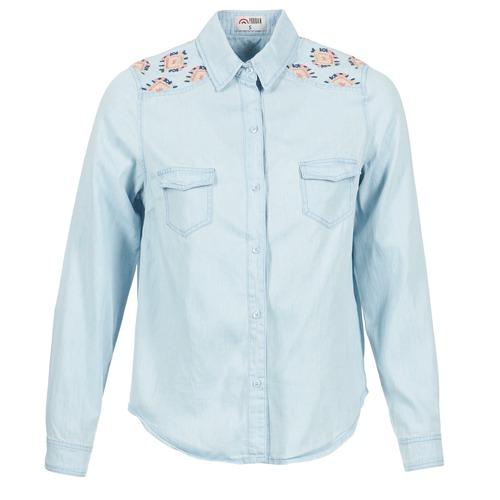 Clothing Women Shirts Yurban EGUATOULE Blue / Clear