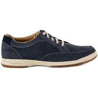 Shoes Men Low top trainers Clarks STAFFORD NAVY Blu
