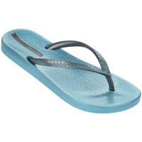 Shoes Women Flip flops Ipanema flip flops Blue and Silver Mesh