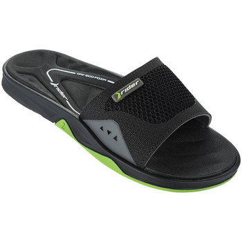 Shoes Men Mules Rider Black and Green sandals Man Ventor Slide BLACK