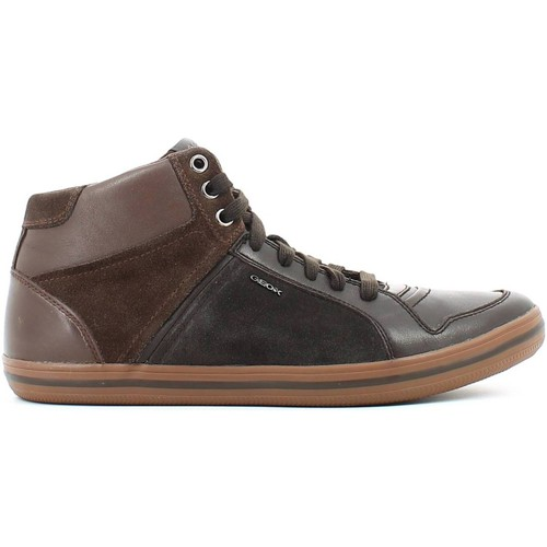 Shoes Men Hi top trainers Geox U54R3E 04322 Sneakers Man Brown Brown