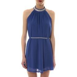 Clothing Women Short Dresses Vera & Lucy Robe tour de cou col strass Bleu 6W1078A Blue