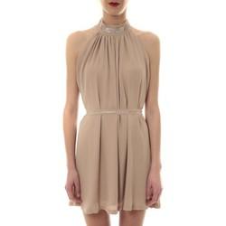 Clothing Women Short Dresses Vera & Lucy Robe tour de cou col strass Beige 6W1078A Beige