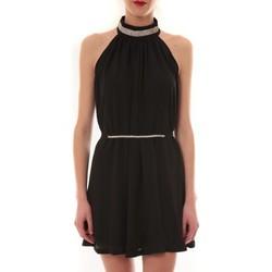 Clothing Women Short Dresses Vera & Lucy Robe tour de cou col strass Noir 6W1078A Black