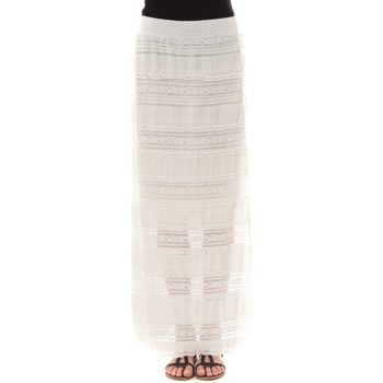 Clothing Women Skirts Vera & Lucy Jupe longue dentelle Blanche J302 White