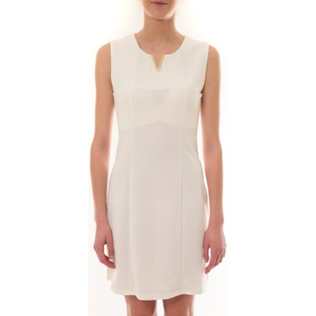 Clothing Women Short Dresses Vera & Lucy Robe sans manches Blanc R6236 White