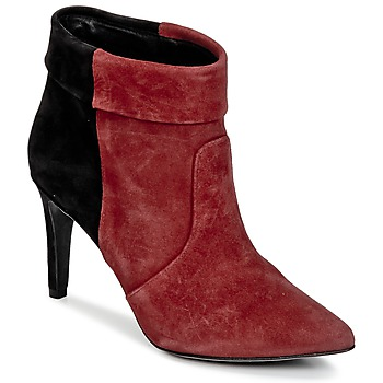 Shoes Women Ankle boots Ikks MIRANDA REVERS Black / BORDEAUX
