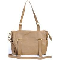 Bags Women Satchels Very Bag Street SAC CARTABLE CUIR  TAUPE Brown
