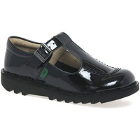 Shoes Girl Flat shoes Kickers Kick T Patent Leather Girls Junior School Shoes black