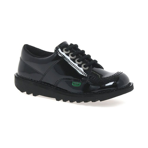 Shoes Girl Trainers Kickers Lo Girls Junior School Shoes black