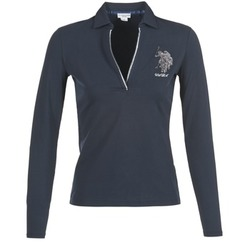 Clothing Women long-sleeved polo shirts U.S Polo Assn. CRISTINE Marine