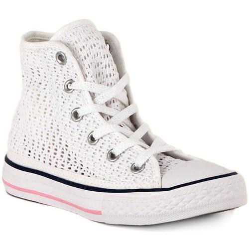 Shoes Hi top trainers Converse ALL STAR HI TINY CROCHET Bianco