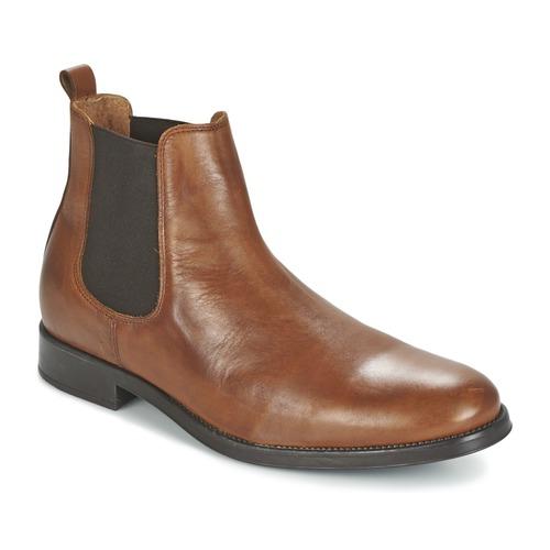 Shoes Men Mid boots Selected SHDOLIVER CHELSEA BOOT NOOS Cognac