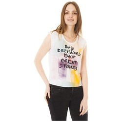 Clothing Women short-sleeved t-shirts Little Marcel Tee-shirt Tilo Blanc White