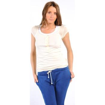 Clothing Women Short-sleeved t-shirts American Vintage TEE-SHIRT MAS05BIS NATUREL White