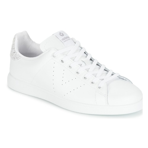 Shoes Women Low top trainers Victoria DEPORTIVO BASKET PIEL White / Silver
