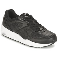 Shoes Men Low top trainers Puma R698 CORE LEATHER Black