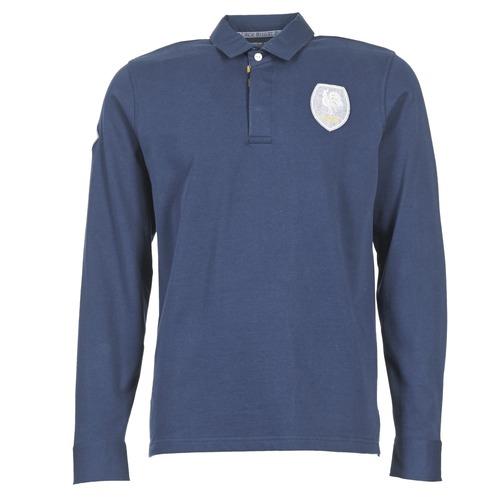 Clothing Men Long-sleeved polo shirts Serge Blanco ECUSSON COQ Marine