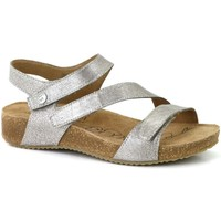 Shoes Women Sandals Josef Seibel Tonga 25 Womens Leather Sandals Silver