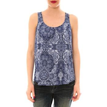 Clothing Women Tops / Sleeveless T-shirts Little Marcel Litlle Marcel Trevor Bleu Marine imprimé Blue