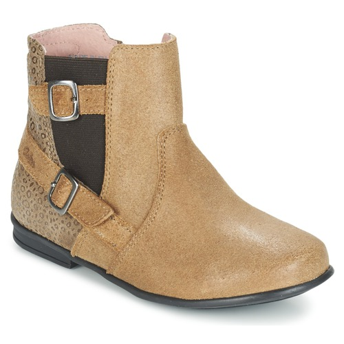 Shoes Girl Mid boots Aster DESIA Beige