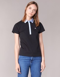 Clothing Women short-sleeved polo shirts Casual Attitude EPIDOL Black