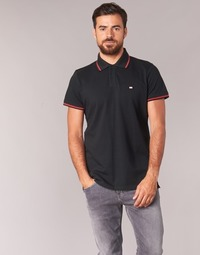 Clothing Men short-sleeved polo shirts Casual Attitude EPIDIN Black