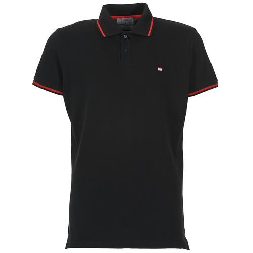 Clothing Men short-sleeved polo shirts Casual Attitude EPIDIN Black
