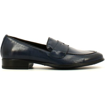 Shoes Men Loafers Soldini 19763 T S67 Mocassins Man Blue Blue