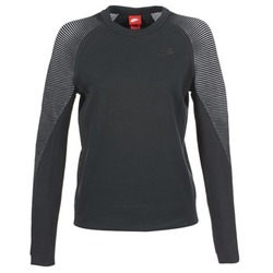 Clothing Women Sweaters Nike TECH FLEECE CREW Black