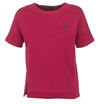 Clothing Women sweaters Nike TECH FLEECE CREW Bordeaux