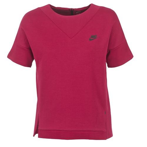 Clothing Women Sweaters Nike TECH FLEECE CREW Bordeaux