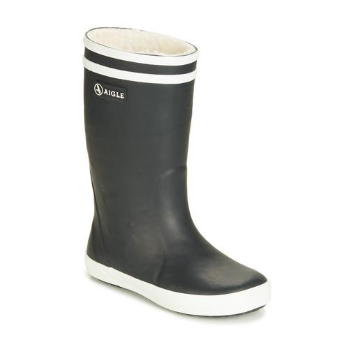 Shoes Children Wellington boots Aigle LOLLY POP FUR Black
