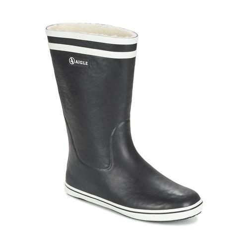 Shoes Women Wellington boots Aigle MALOUINE FUR Black