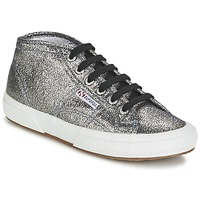 Shoes Women Hi top trainers Superga 2754 LAMEW Grey
