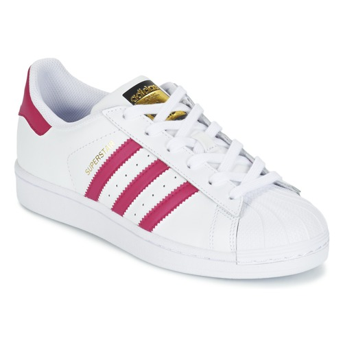 Shoes Girl Low top trainers adidas Originals SUPERSTAR FOUNDATIO White