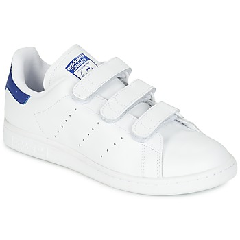 Shoes Low top trainers adidas Originals STAN SMITH CF White / Blue
