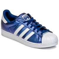 Shoes Men Low top trainers adidas Originals SUPERSTAR Blue