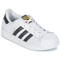 Shoes Children Low top trainers adidas Originals SUPERSTAR EL C White