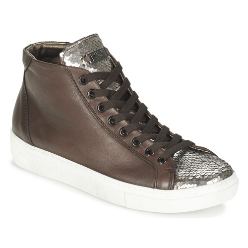 Shoes Women Hi top trainers Tosca Blu ALEXA Brown / Silver